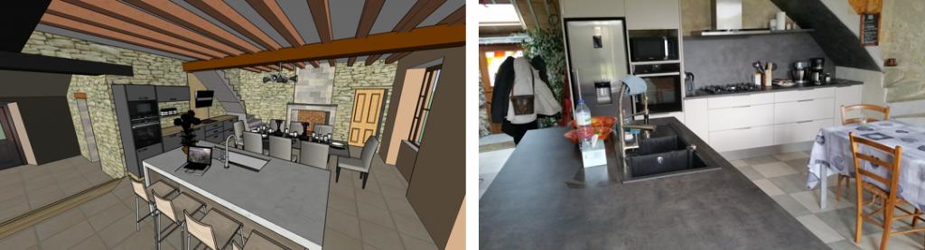 Visualisation et réalisation du projet cuisine