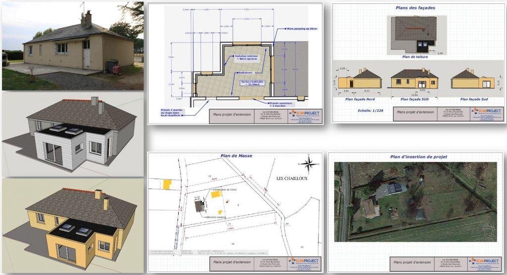 Plans extention 3D