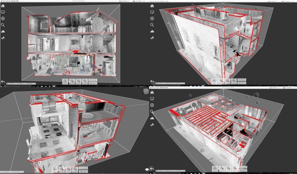 Relevés 3D de bâtiment